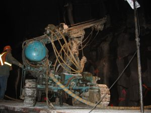 Drill rig for rock mass characterization Rogers Pass, British Columbia, Canada